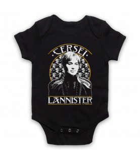 Game Of Thrones Cersei Lannister Tribute Baby Grow Bib