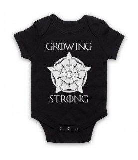 Game Of Thrones House Tyrell Sigil Growing Stronger Baby Grow Bib