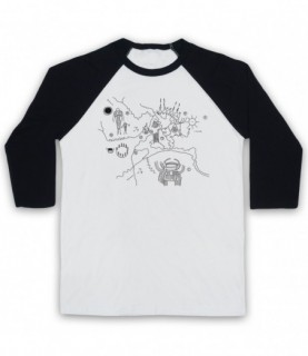 Twin Peaks Owl Cave Map Baseball Tee