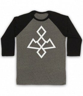 Twin Peaks White Lodge Black Lodge Symbol Logo Baseball Tee