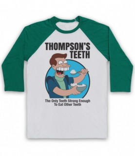 Futurama Thompson's Teeth Baseball Tee
