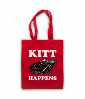 Knight Rider Kitt Happens Parody Tote Bag