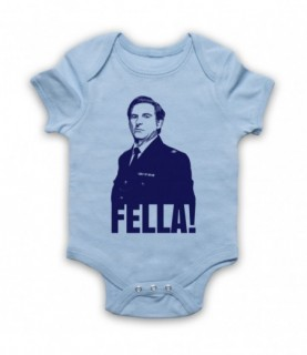 Line Of Duty Ted Hastings Fella! Baby Grow Bib