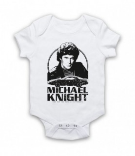Knight Rider Michael Knight Tribute Baby Grow Bib