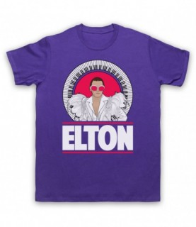 Elton John Piano Legend White Feather Outfit T-Shirt