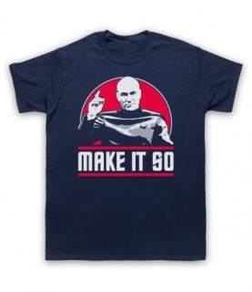 Star Trek Captain Jean-Luc Picard Make It So T-Shirt