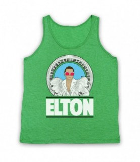 Elton John Piano Legend White Feather Outfit Tank Top Vest