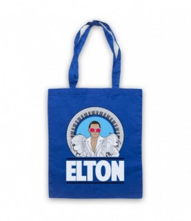 Elton John Piano Legend White Feather Outfit Tote Bag