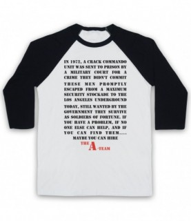 A-Team Introduction Text Maybe You Can Hire Baseball Tee