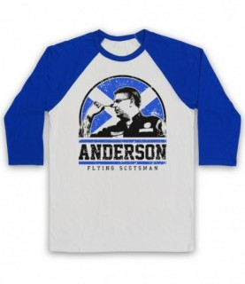 Anderson Flying Scotsman Darts Tribute Baseball Tee