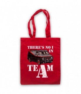 A-Team Van There's No I In Team Parody Tote Bag
