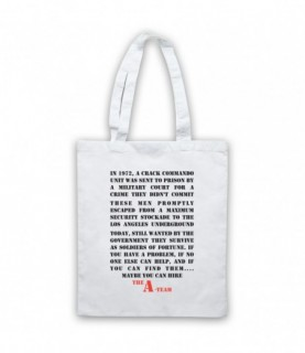 A-Team Introduction Text Maybe You Can Hire Tote Bag