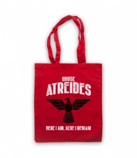 Dune House Atreides Here I Am Here I Remain Tote Bag