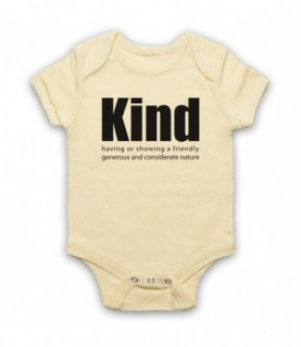 Kind Definition Having A Friendly Generous Considerate Nature Baby Grow Bib