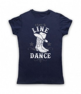 I Love To Line Dance Country & Western Barn Dance T-Shirt