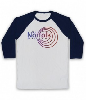 Alan Partridge North Norfolk Digital Radio Station Logo Baseball Tee