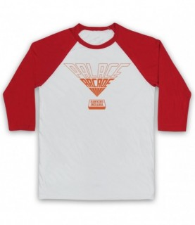 Stranger Things Palace Arcade Orange Logo Baseball Tee