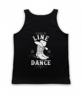 I Love To Line Dance Country & Western Barn Dance Tank Top Vest