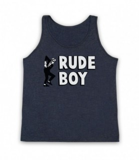 Rude Boy Jamaican Street Culture Slogan Tank Top Vest