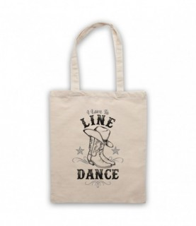 I Love To Line Dance Country & Western Barn Dance Tote Bag