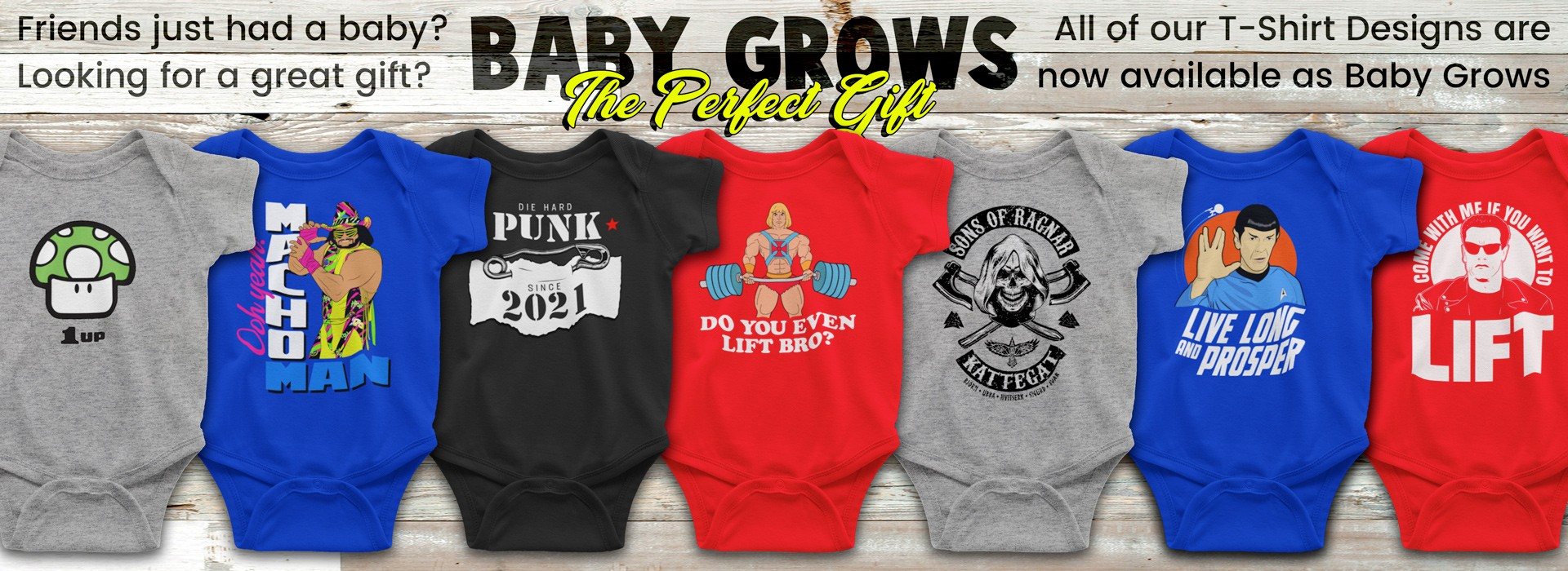 Baby Grows, Onesies and Kids T-Shirts